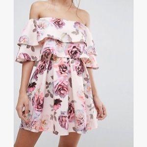 🎉HP🎉 NWT ASOS Off Shoulder Floral Print Dress